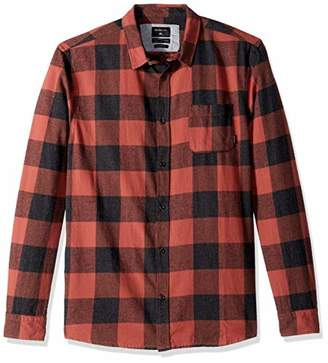 Quiksilver Men's Motherfly Button Down Flannel Shirt