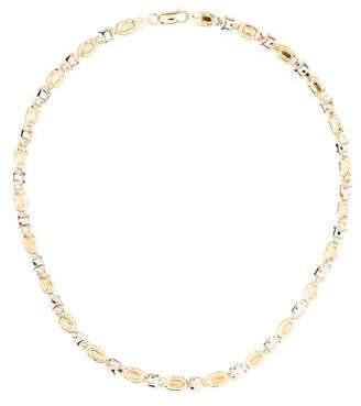 18K Tri-Tone Link Necklace