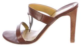 Gianni Versace Leather Slide Sandals