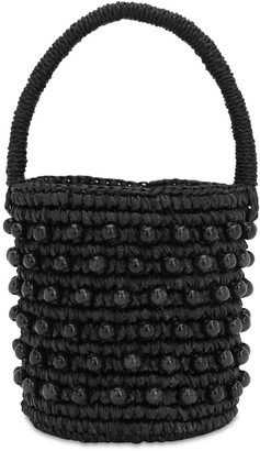 Sensi Studio MINI BUCKET BAG W/ WOODEN BEADS