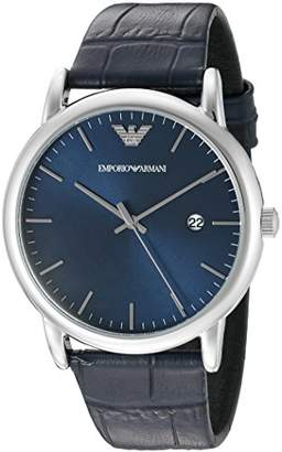 Emporio Armani Men's AR2501 Dress Leather Quartz Watch