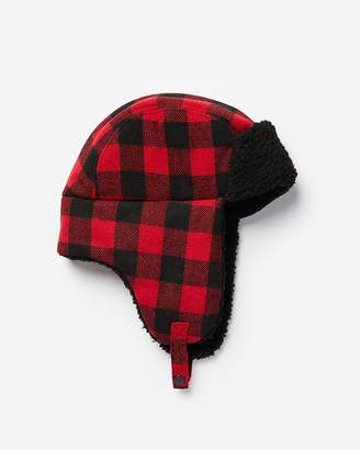 Express Buffalo Check Trapper Hat