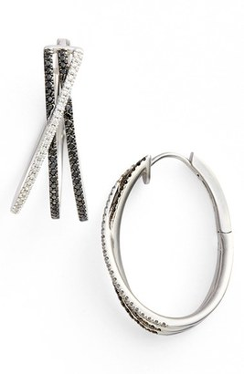 Women's Bony Levy 3-Row Crossover Diamond Hoop Earrings (Limited Edition) (Nordstrom Exclusive) $2,995 thestylecure.com