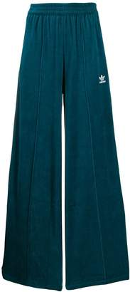 adidas Velour Wide-Leg Sweatpants