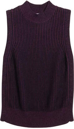 Autumn Cashmere Girl's Braid Knit Sleeveless Sweater, Size 8-16