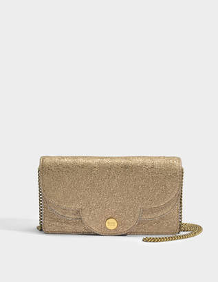 See by Chloe Polina Evening Bag in Sandy Brown Metallic Cowhide Leather