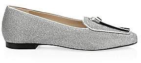 Stuart Weitzman Women's Slipknot Metallic Leather Loafers