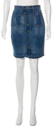 Rag & Bone Knee-Length Denim Skirt