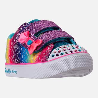 Skechers Girls' Preschool Twinkle Toes: Twinkle Breeze 2.0 - Colorful Crochets Light-Up Casual Shoes