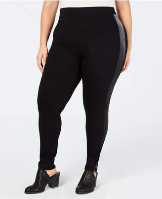 Style&Co. Style & Co Plus Size Velour-Trimmed Leggings
