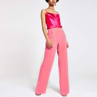 River Island Womens Pink wide leg trousers
