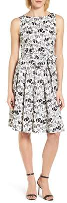 Anne Klein Flowerfall Fit and Flare Dress