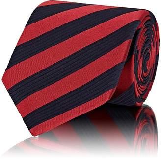 Isaia Men's Textured-Striped Silk Necktie