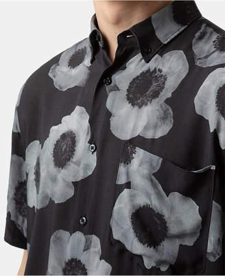 HUGO BOSS Men's Large-Scale Floral Shirt
