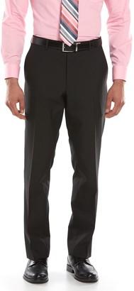 Savile Row Men's Modern-Fit Black Flat-Front Suit Pants
