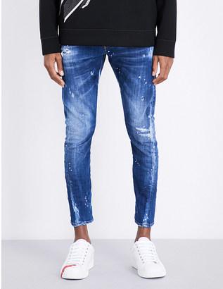 DSQUARED2 Sexy Twist skinny stretch-denim jeans $410 thestylecure.com