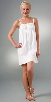 Juicy Couture Embroidered Linen Tank Dress