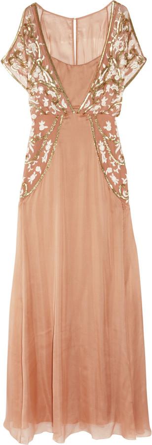 Temperley London Sefarina embellished silk gown