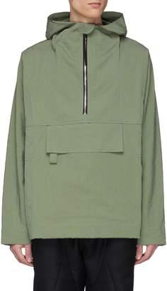 Blend of America Pronounce Cotton crinkled half-zip hoodie