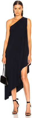 Norma Kamali for FWRD One Shoulder Diagonal Dress