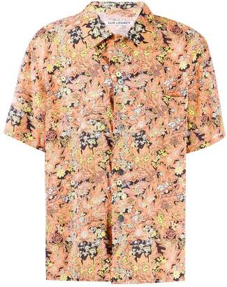 Our Legacy floral short-sleeve shirt