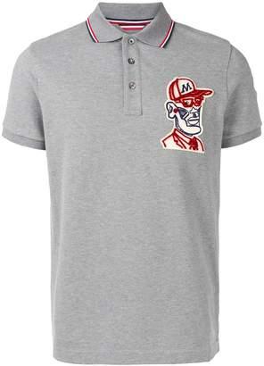 Moncler embroidered polo shirt