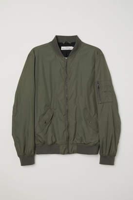 H&M Nylon Bomber Jacket - Green