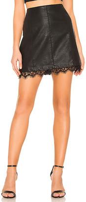 BB Dakota JACK by Waiting For Tonight Faux Leather Skirt