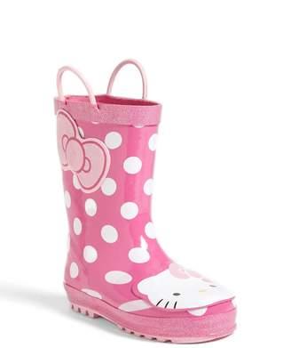 Western Chief Hello Kitty(R) - Cutie Dot Waterproof Rain Boot