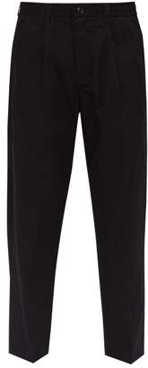 Saturdays NYC Varick Water Repellent Cotton Trousers - Mens - Black