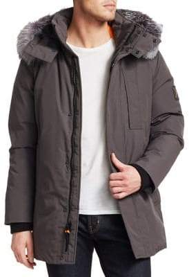 Madison Supply Fox Fur-Trim Puffer Coat