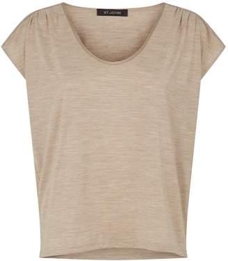 St. John Silk Scoop-Neck T-Shirt