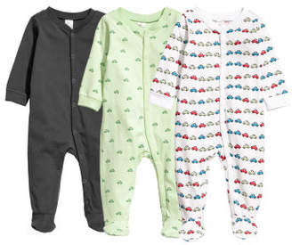 H&M 3-pack Jumpsuits - Green
