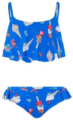 Monsoon Blue 'Evie' Frill Bikini