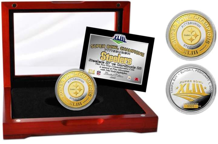 Officially Licensed NFL Pittsburgh Steelers Super Bowl XLIII Limited Edition Two-Tone Mint Coin