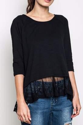 Umgee USA Lace Trim Tunic Top