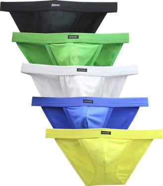 62a7a6a08b88 iKingsky Men's Modal Pouch Bikini High Leg Opening Briefs Sexy Lowrise Men  Underwear Pack ...