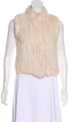 Haute Hoodie Fur-Paneled Wool Vest