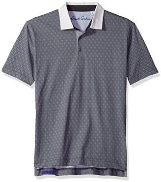 Robert Graham Men's Osaka Short Sleeve Pima Cotton Knit Polo