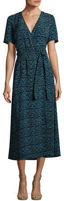 A.L.C. Asa Embroidered Midi Dress