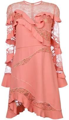 Elie Saab ruffle trim dress