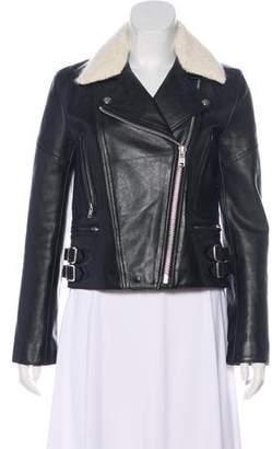 Victoria Beckham Leather Biker Jacket