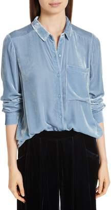 Eileen Fisher Classic Velvet Collar Shirt
