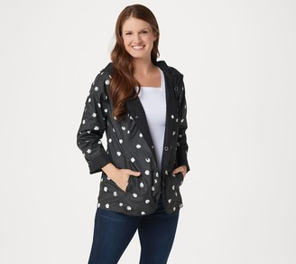 Isaac Mizrahi Live! Reversible Solid to Dot Raincoat