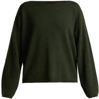Nili Lotan Grayson Boat Neck Cashmere Sweater - Womens - Khaki