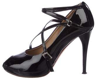 Chloé Crossover Patent Leather Pumps