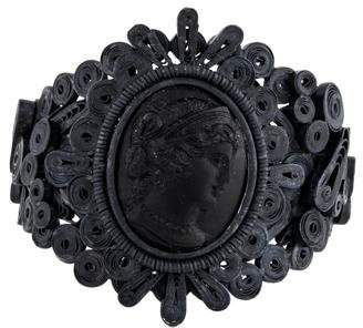 Bottega Veneta Blackened Cameo Cuff