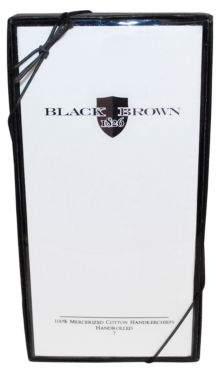 Black & Brown Black Brown White Handkerchiefs - 13-Pack