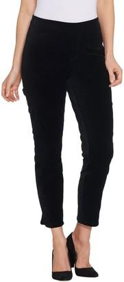 Isaac Mizrahi Live! Regular Velvet Ankle Pants with Tulip Hem