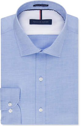 Tommy Hilfiger Men's Slim-Fit Non-Iron Soft Wash Solid Dress Shirt $69.50 thestylecure.com